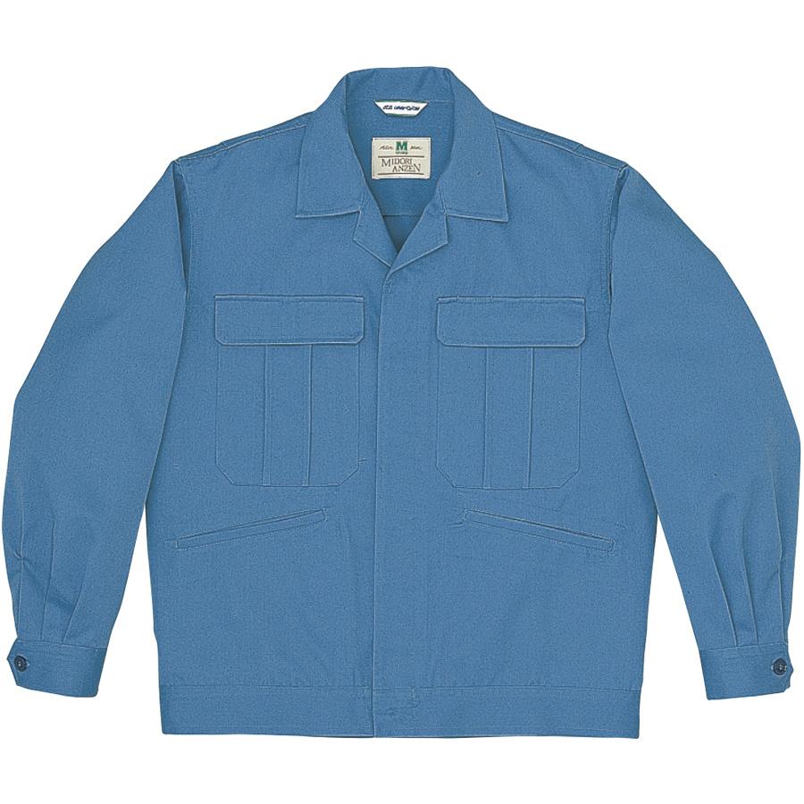 混紡4つポケットジャンパー M5403 上 ブルー