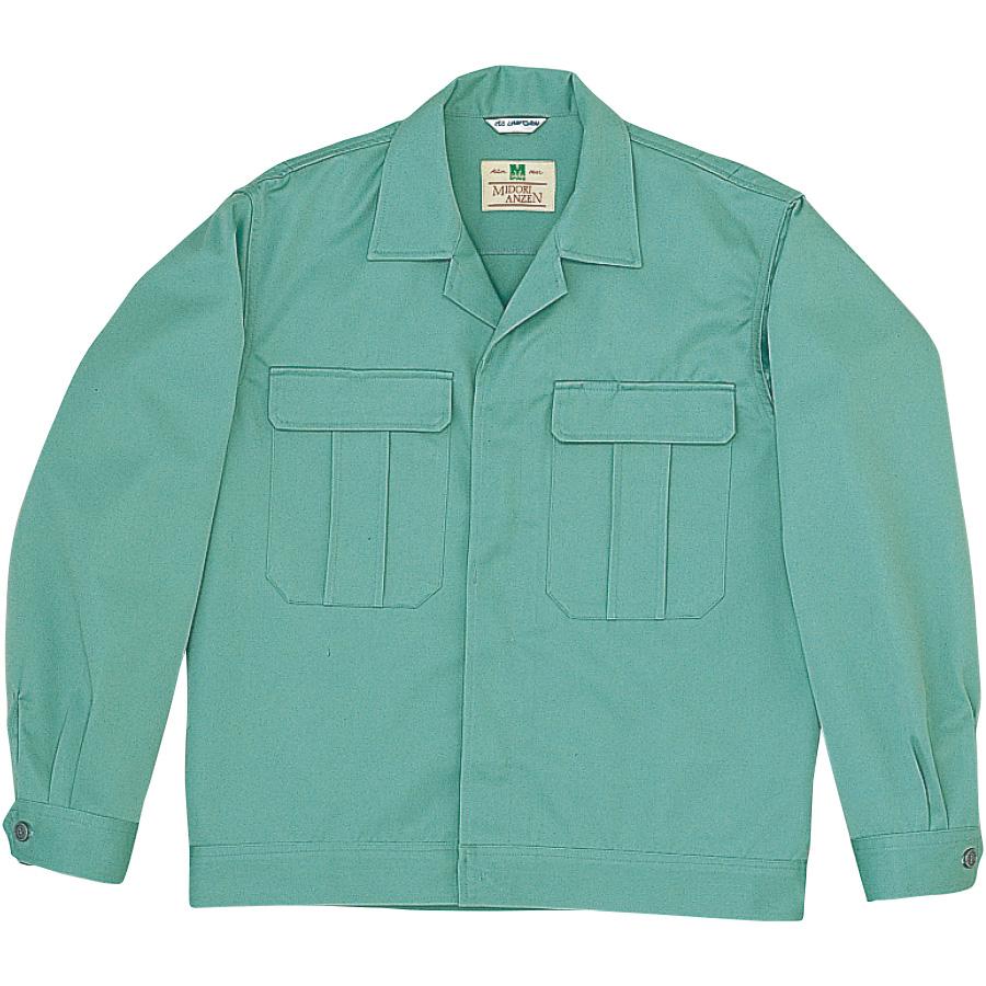 混紡2つポケットジャンパー M5209 上 エメラルドグリーン