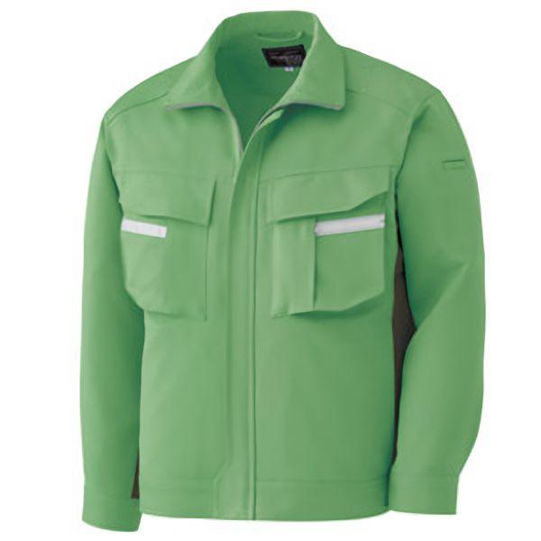 ベルデクセルフレックス 長袖ジャンパー VE36 上 グリーン×モスグリーン