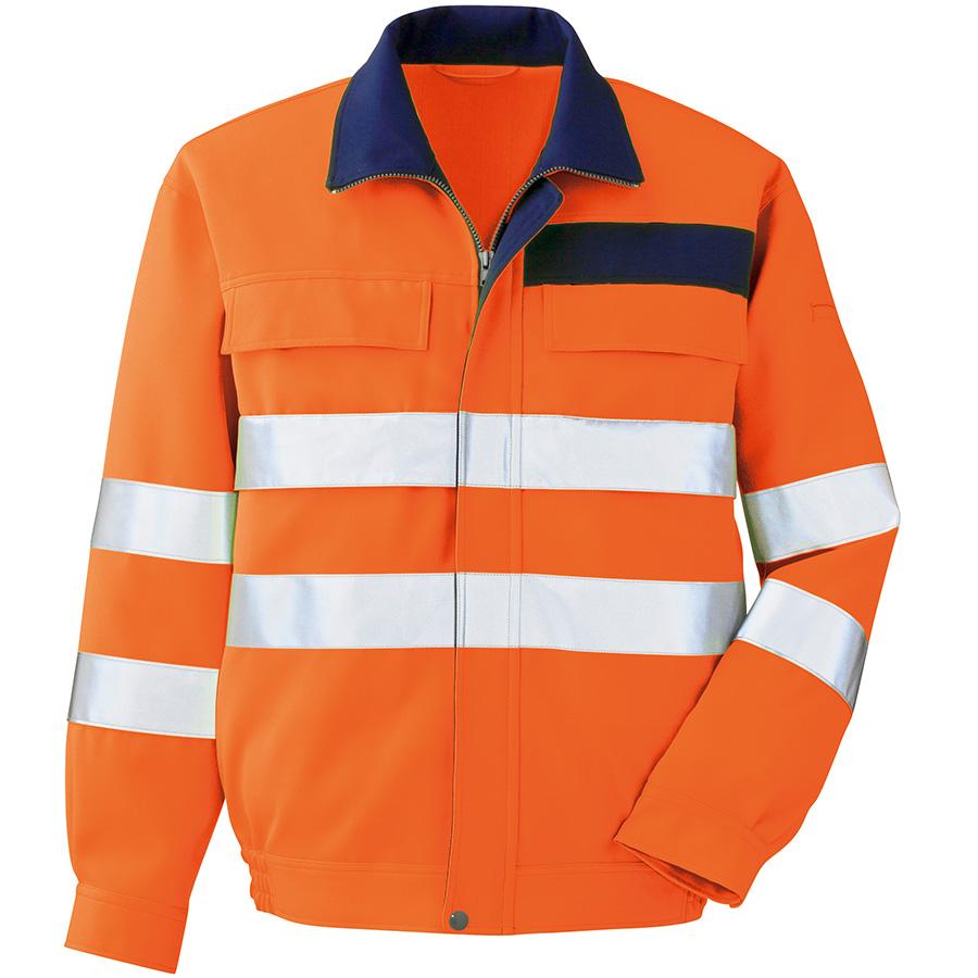 JIS規格適合品 高視認ブルゾン VE325 上 オレンジ