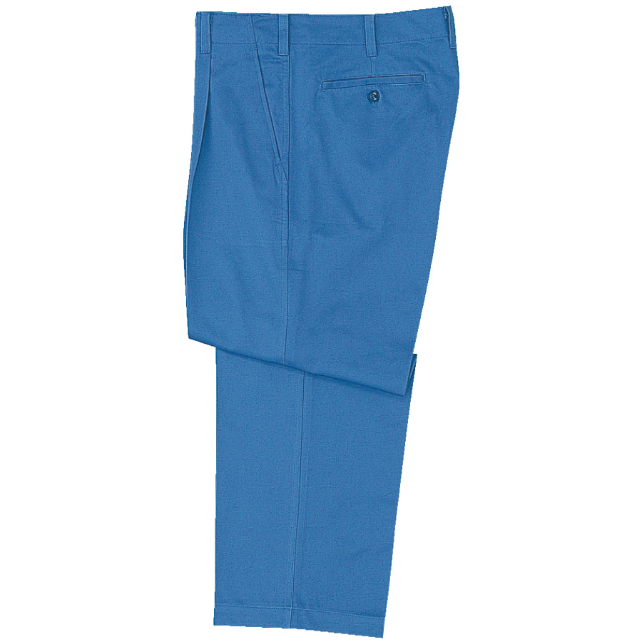 綿100% 男子スラックス M6177下 ブルー