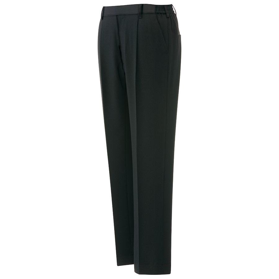 ベルデクセル 男女共用イージーフレックスパンツ VE120 下 ブラック (裾上げ自由自在)