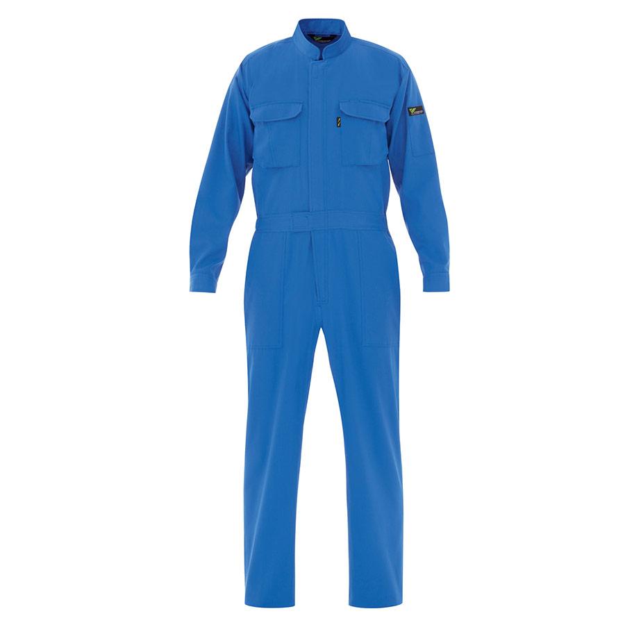ベルデクセルフレックス T/C 帯電防止ツナギ服 VE413 ブルー