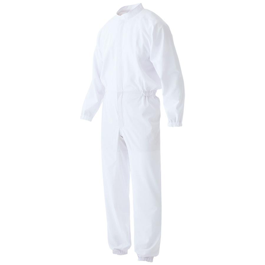 男女共用 ツナギ型 白衣 VEHS 2100W ホワイト
