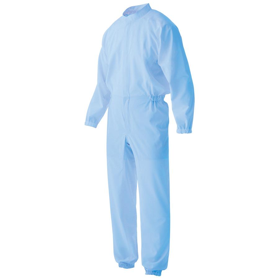 男女共用 ツナギ型 白衣 VEHS2100B ブルー