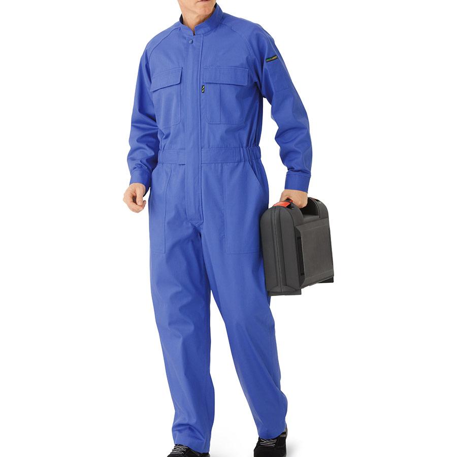 綿100% 帯電防止ツナギ SE63 ブルー