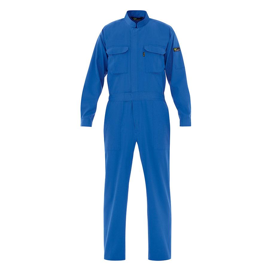 ベルデクセルコットン 綿100% 帯電防止ツナギ服 VE163 ブルー