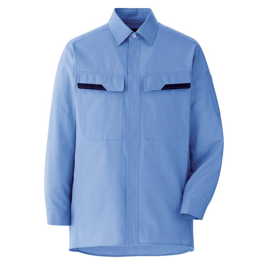 ベルデクセル コットン 綿100%シャツ VES2402 上 ライトブルー