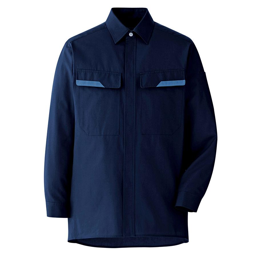 ベルデクセルコットン 綿100% シャツ VES2407上 ネイビー