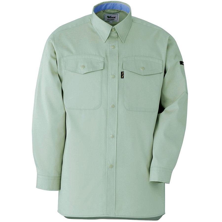 抗菌防臭 ペア長袖シャツ GS2316 上 グリーン