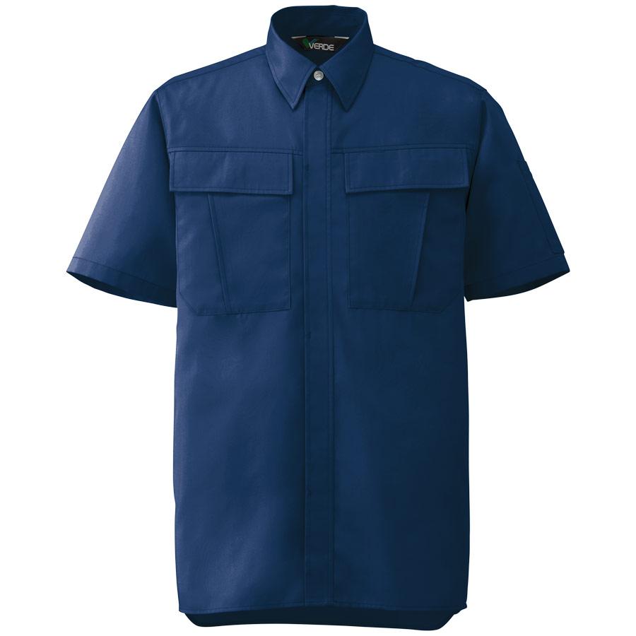 男女ペア半袖シャツ GS577 上 ネイビー