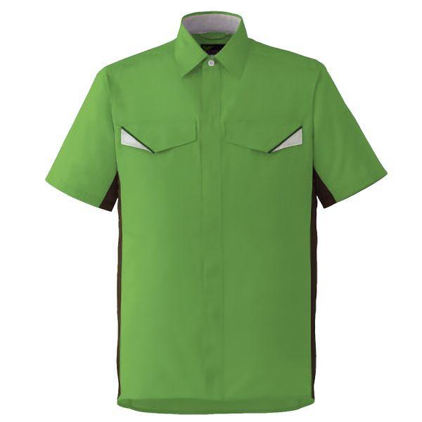 ベルデクセルフレックス 半袖シャツ VES26上 グリーンXモスグリーン