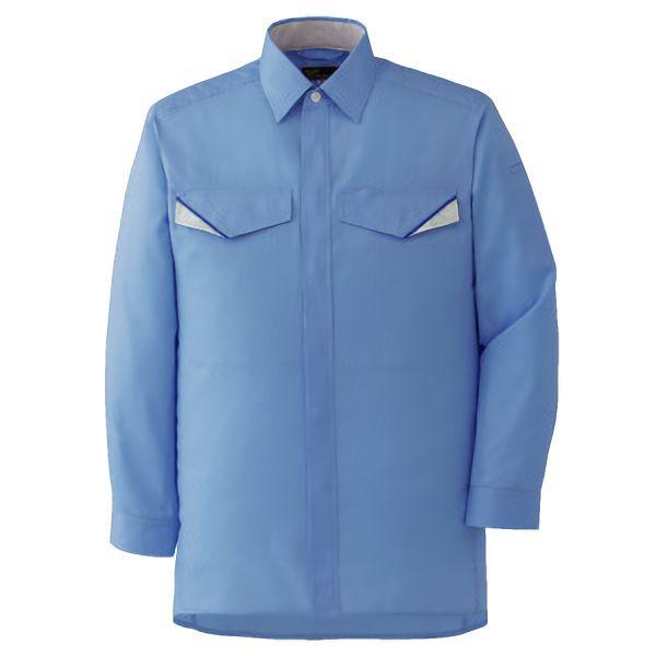 ベルデクセルフレックス 長袖シャツ VES223 上 ブルー