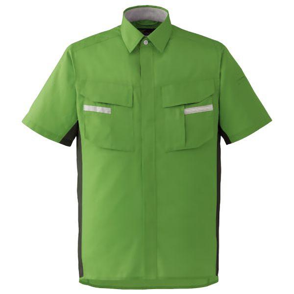 ベルデクセルフレックス 半袖シャツ VES46上 グリーンXモスグリーン