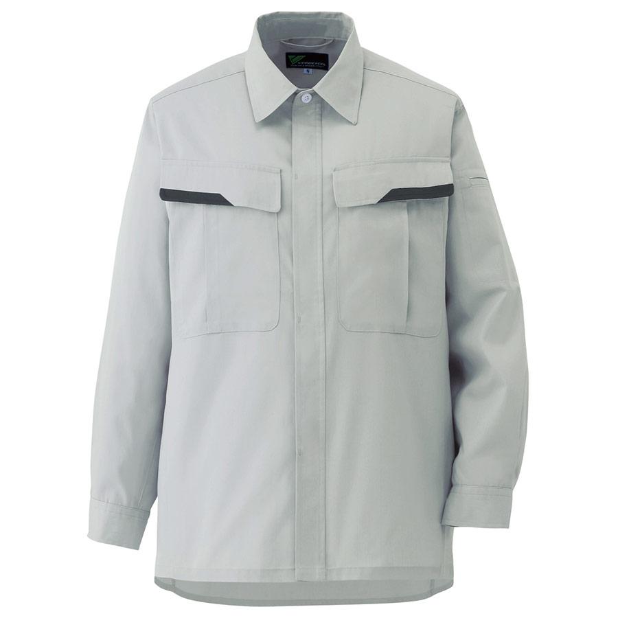 ベルデクセルフレックス 男女兼用 長袖シャツ VES261 上 シルバーグレー