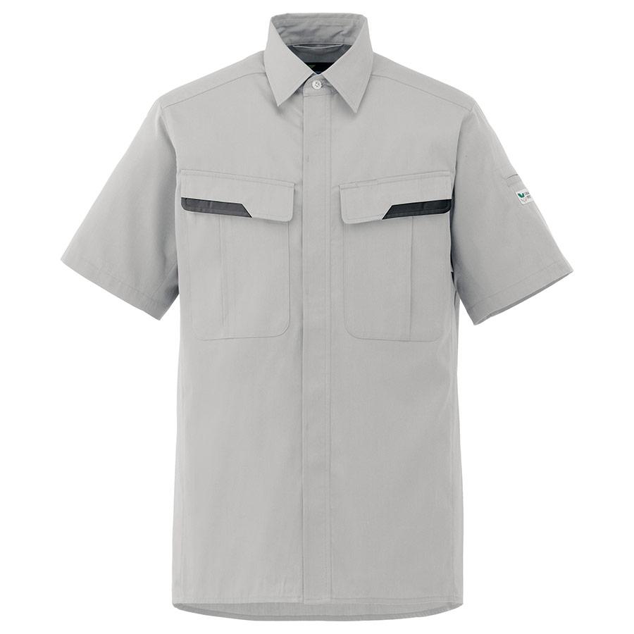 ベルデクセルフレックス 半袖シャツ VES61 上 シルバーグレー