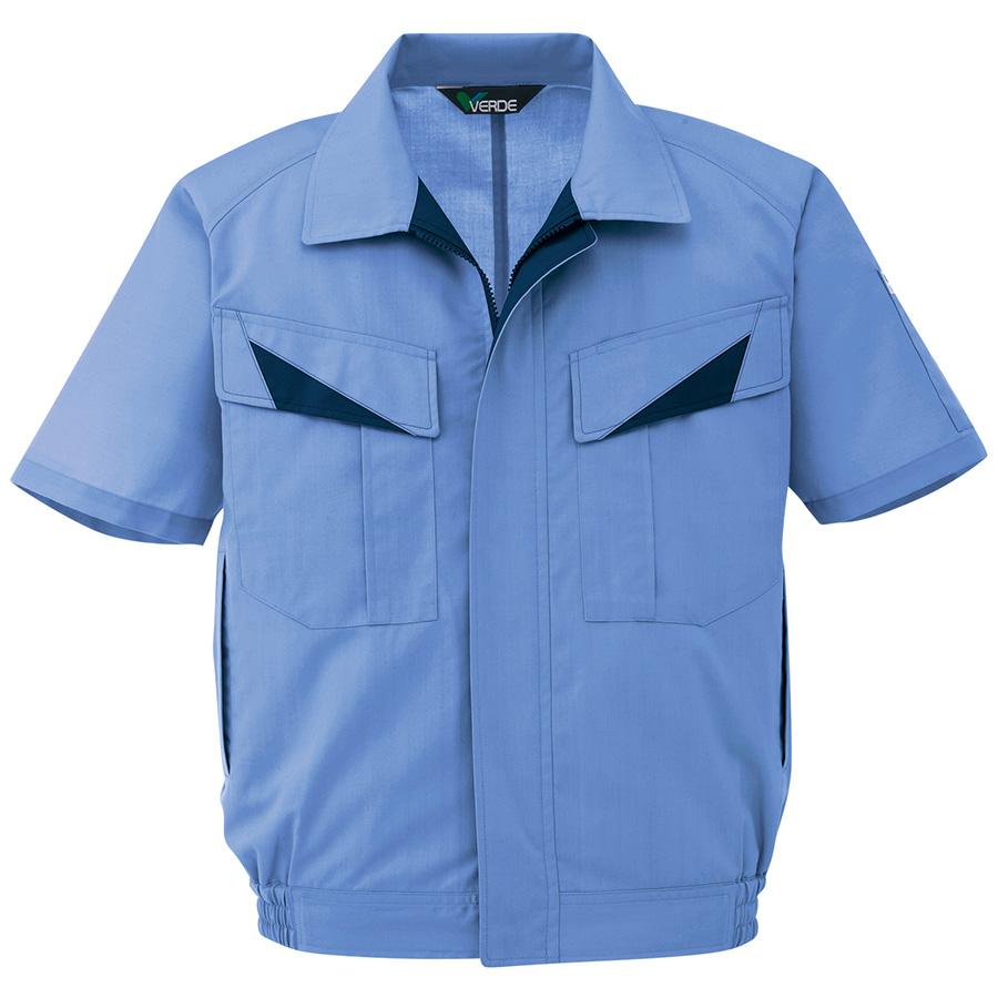 ウインドフリー 男女ペア半袖ブルゾン GS623 上 ライトブルー