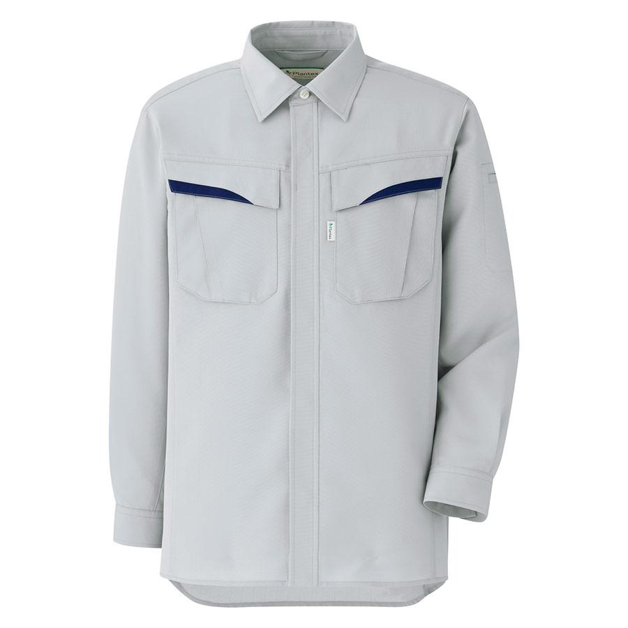 ベルデクセルフレックス プランテックス T/C ストレッチ長袖シャツ VES2491上 シルバーグレー