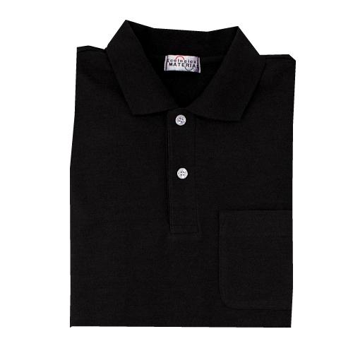 長袖ポロシャツ PS209 上 ブラック