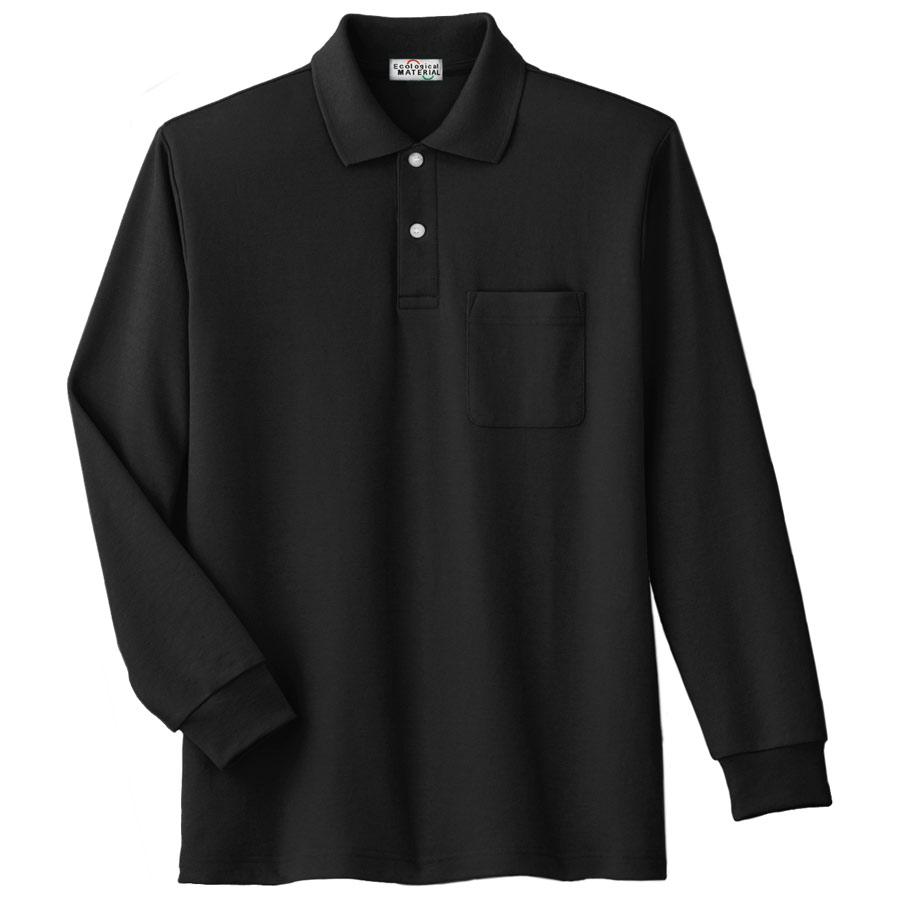 長袖ポロシャツ PS209N 上 ブラック