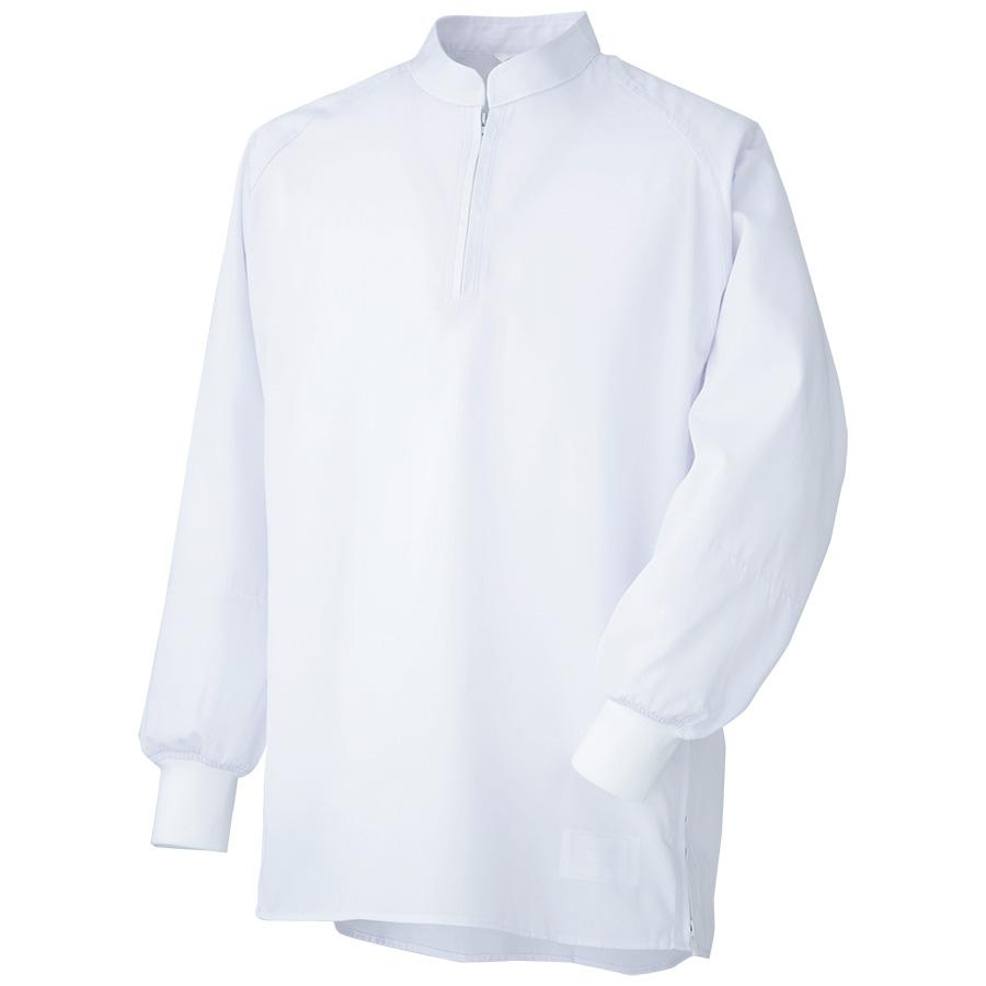 男女共用 プルオーバーシャツ MHS211W 上 ホワイト