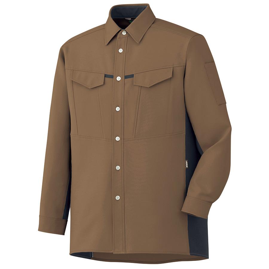 男女共用 長袖シャツ GS2704 上 ブラウン