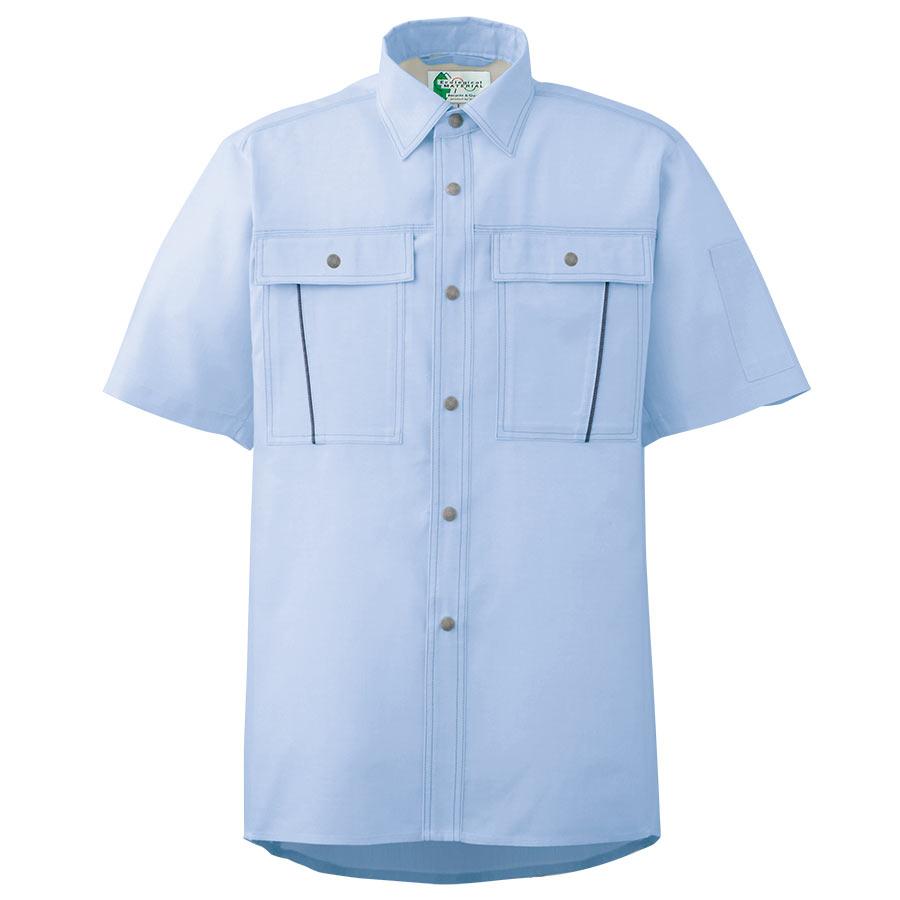ペア半袖さらりシャツ RCS603 上 ブルー