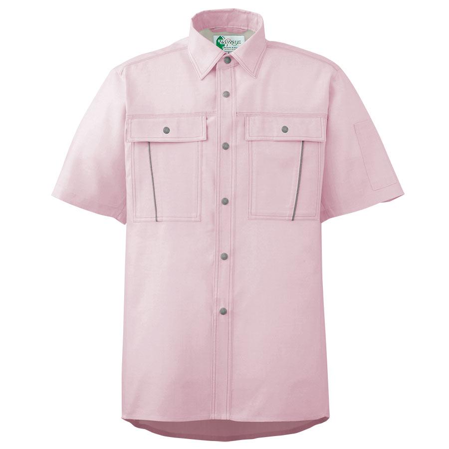 ペア半袖さらりシャツ RCS605 上 ピンク