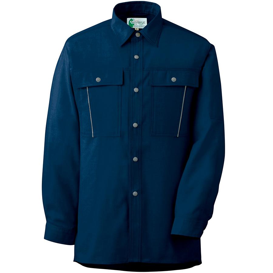 ペア長袖さらりシャツ RCS2607 上 ネイビー