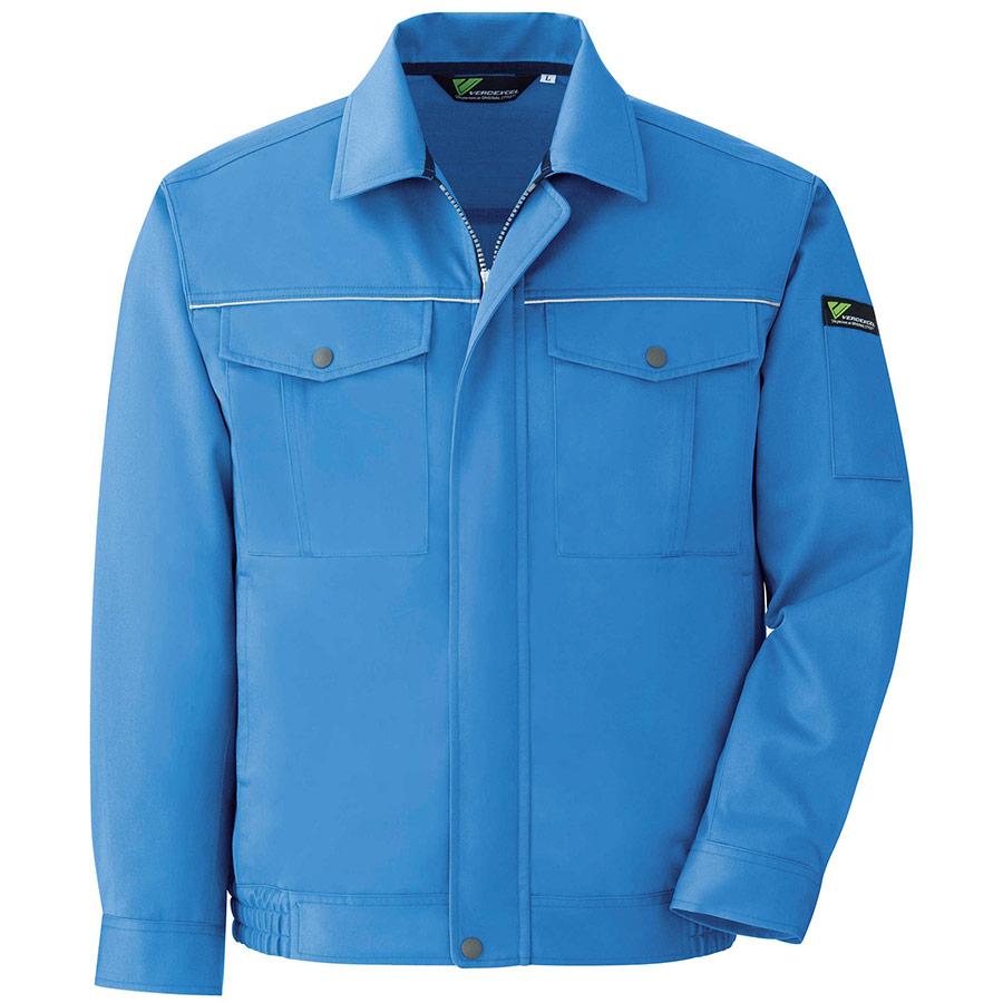 ベルデクセルフレックス エコ静電 T/C 長袖ブルゾン VES2443上 ブルー