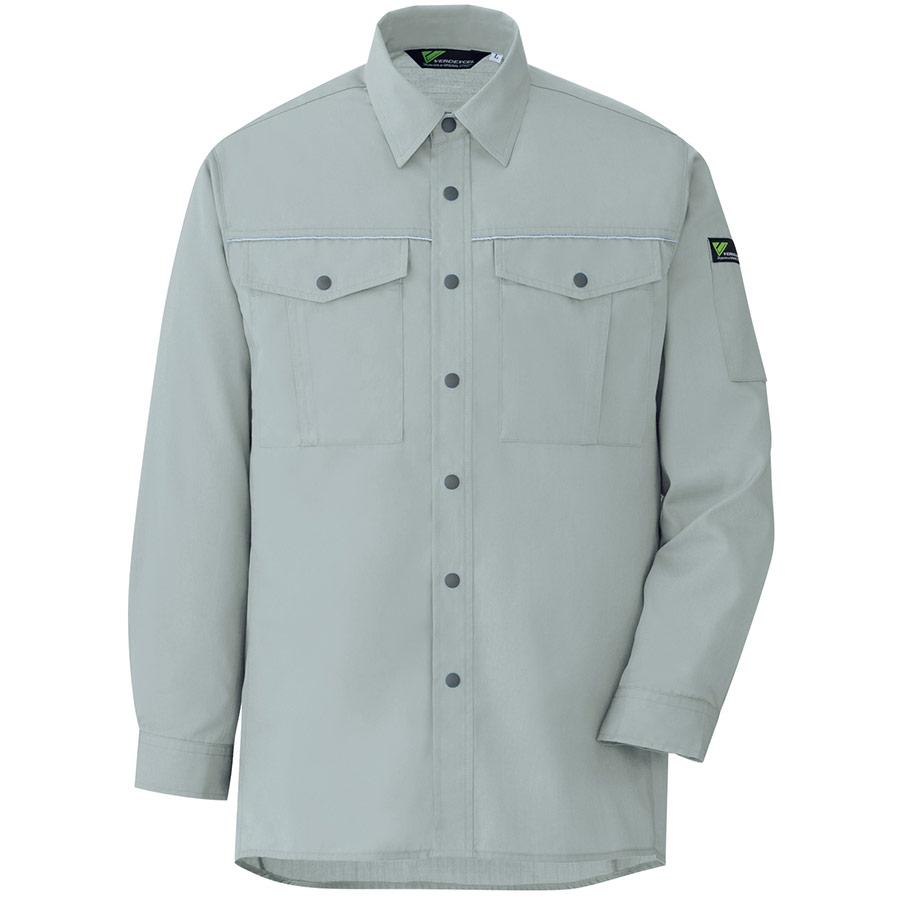 ベルデクセルフレックス エコ静電 T/C長袖シャツ VES2456上 グリーン