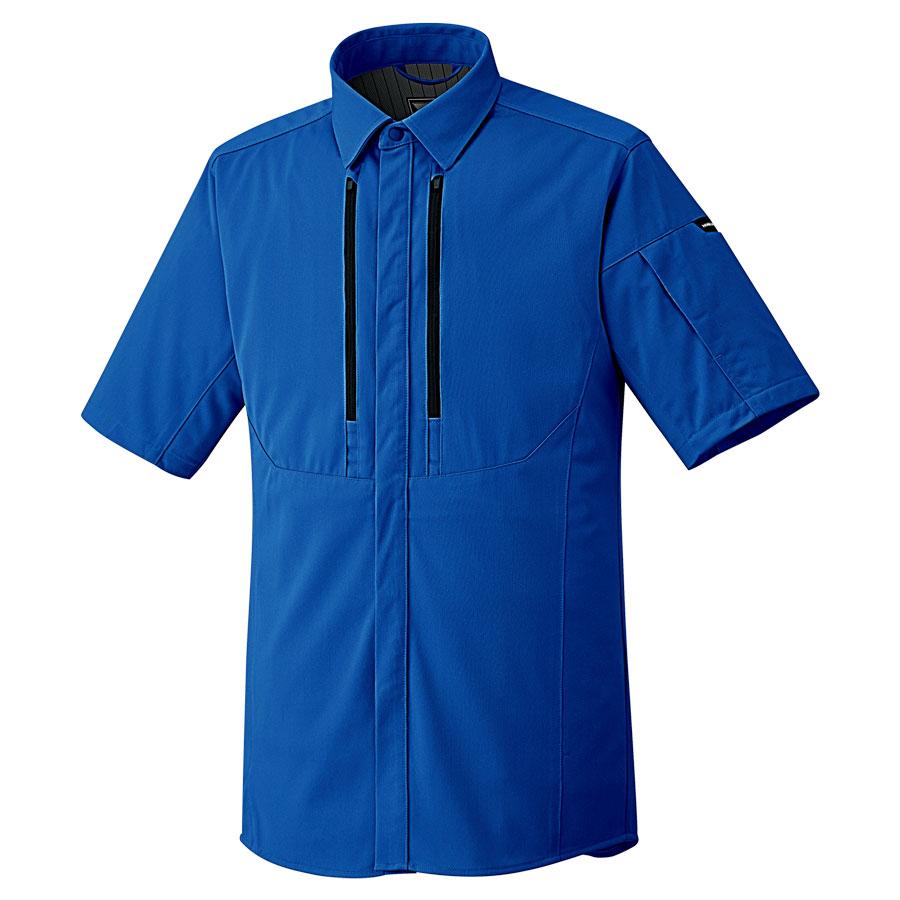 ベルデクセルフレックス フルハーネス対応 男女共用 半袖シャツ VES733上 ロイヤルブルー
