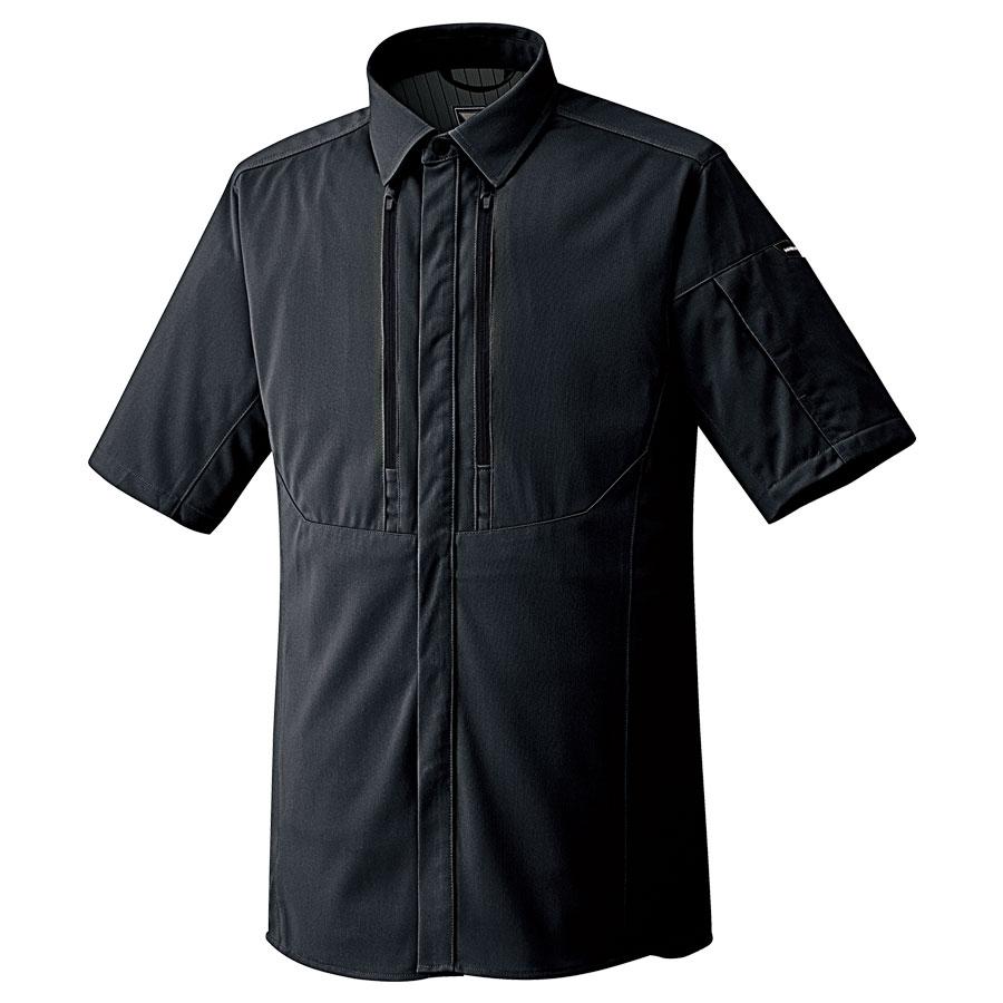 ベルデクセルフレックス フルハーネス対応 男女共用 半袖シャツ VES739上 チャコール