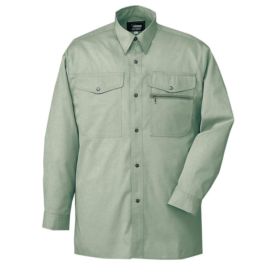 長袖シャツ GS2156N上 アースグリーン