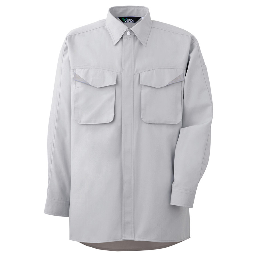 ペア長袖シャツ GS2491 上 シルバーグレー