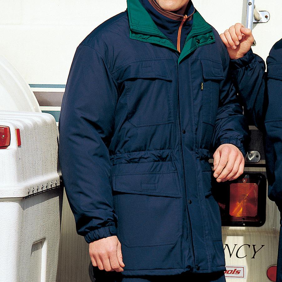 帯電防止 防寒コート SE1019B 上 ネイビー