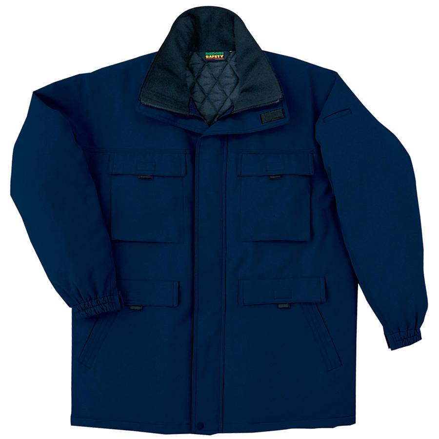 リサイクル 帯電防止防寒コート SE1057 上 ネイビー