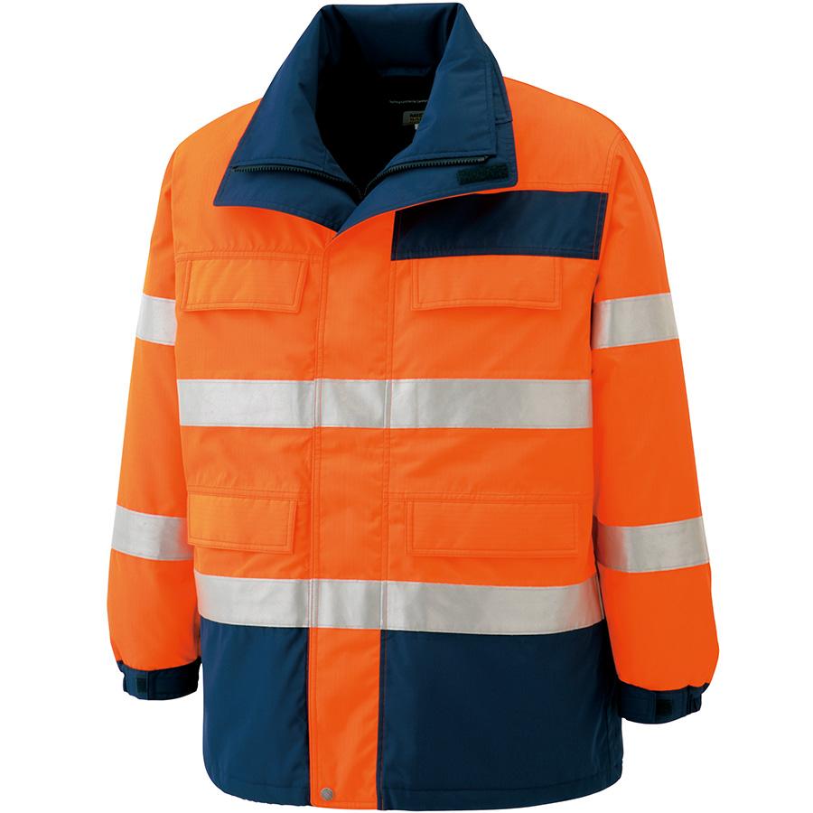 高視認性 防水帯電防止防寒コート SE1125 上 オレンジ