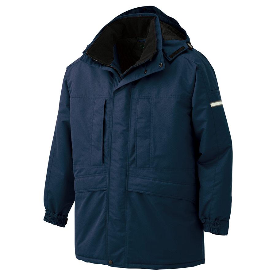 寒冷地仕様 防寒コート M4007 上 ネイビー
