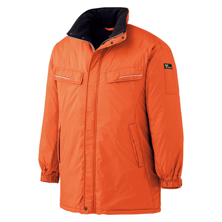 防寒コート VE1014 上 オレンジ