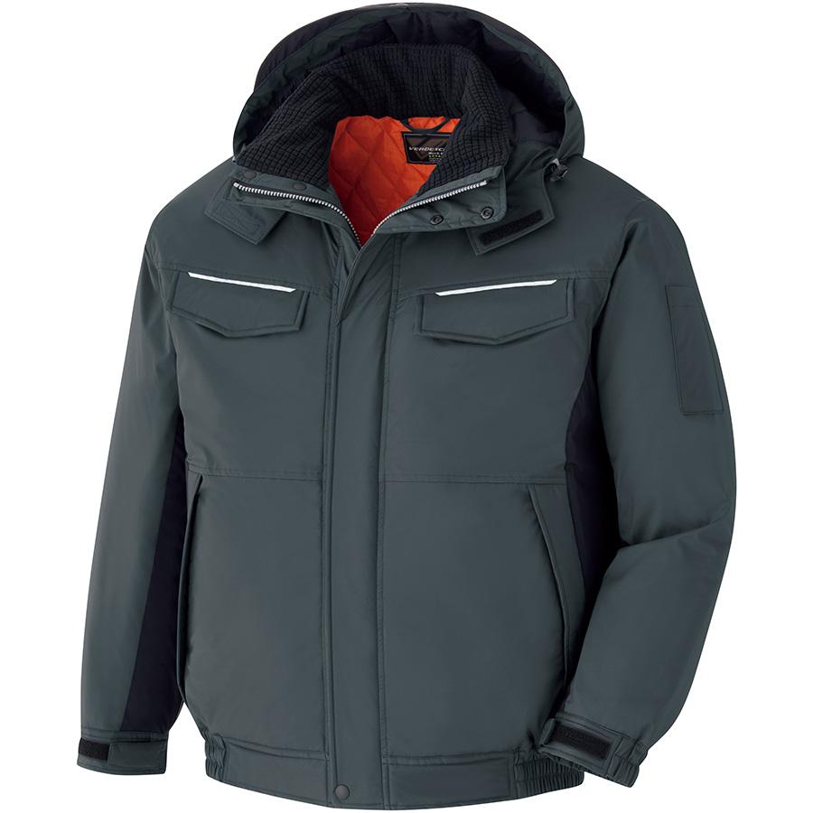 ベルデクセルフレックス 静電防水防寒ブルゾン VE1051 上 チャコールグレー×ブラック