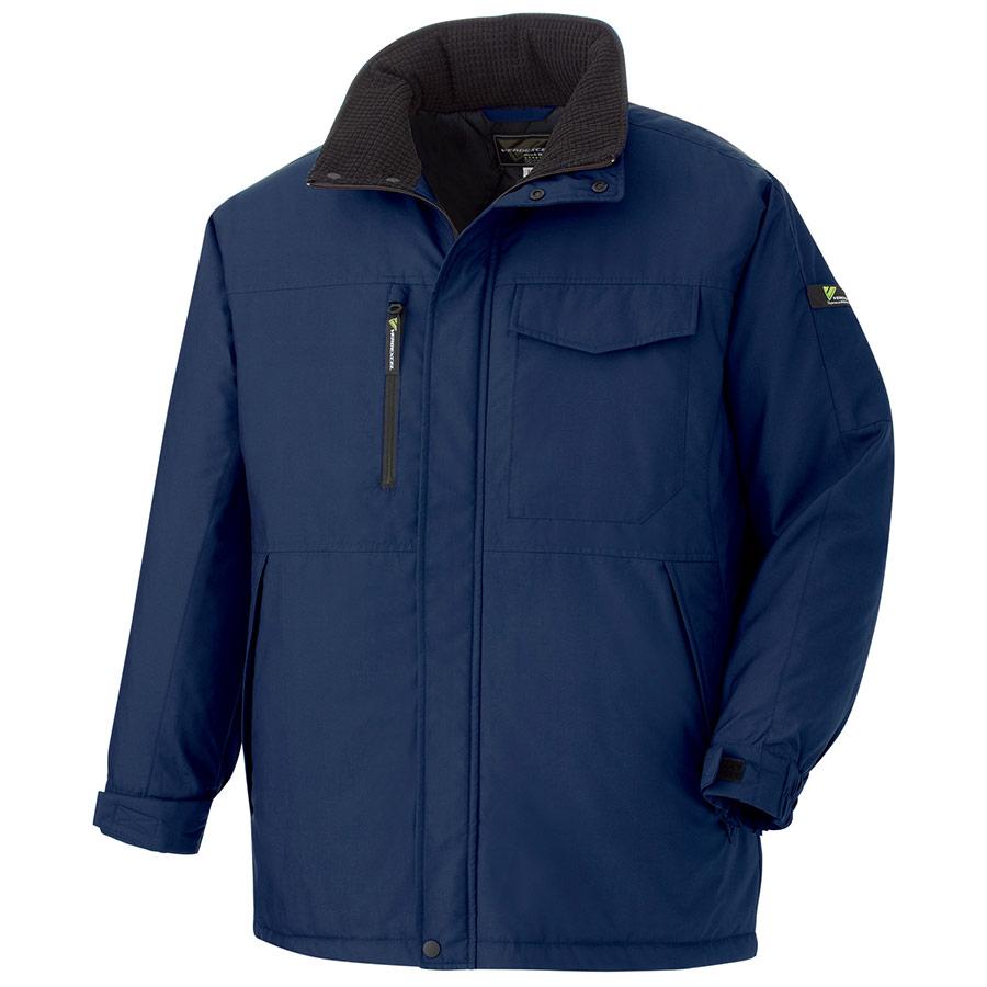 ベルデクセルフレックス 帯電防止軽量防寒コート VE1067 上 ネイビー (SS〜5L)
