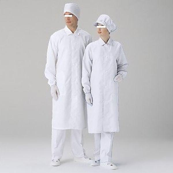 クリーンウェア 男女共用 コート S3550W ホワイト