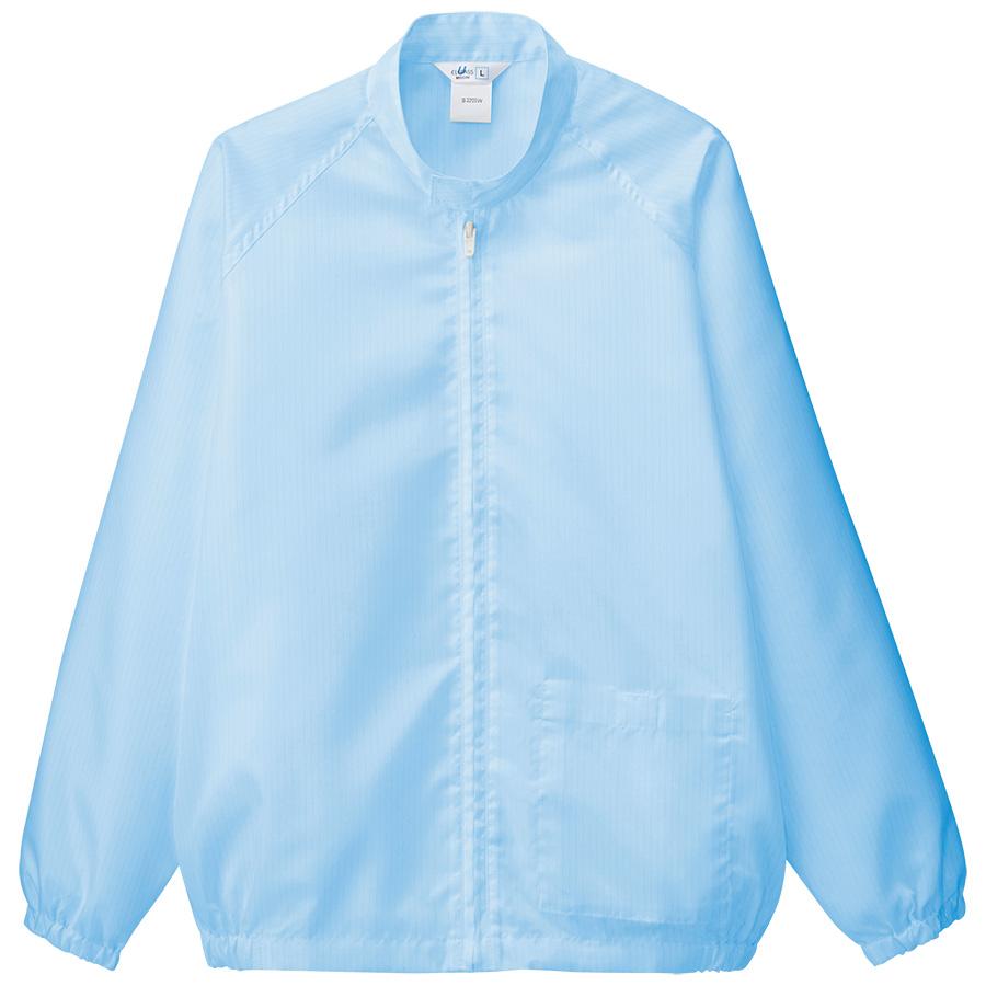 クリーンウェア 男女共用 上衣 S3205B 上 ブルー