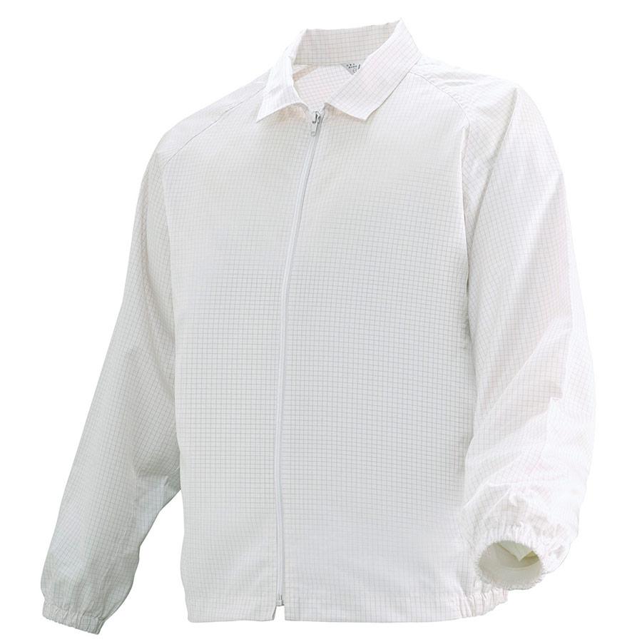 クリーンウェア 男女共用ブルゾン C3208W 上 ホワイト