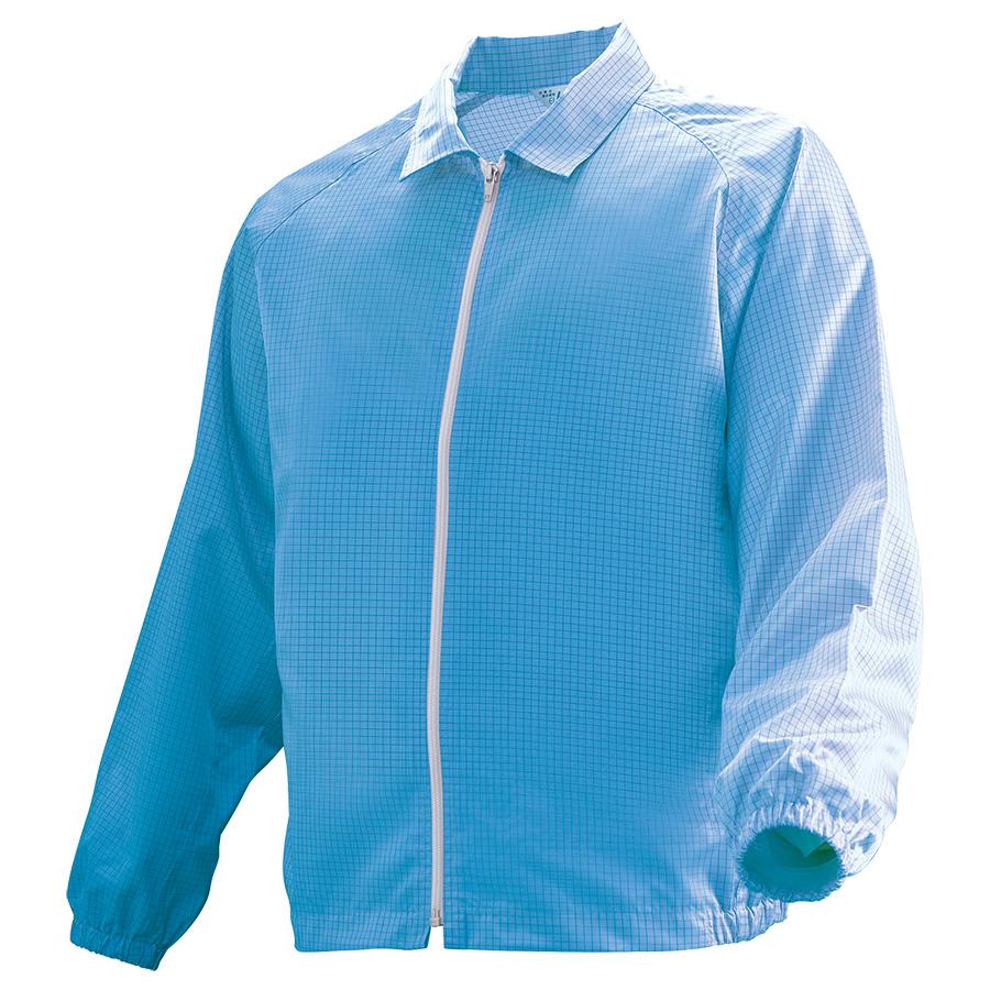 クリーンウェア 男女共用ブルゾン C3208B 上 ブルー