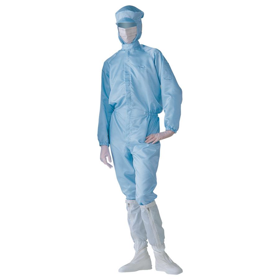クリーンウェア 一般型クリーンスーツ S1313B ブルー