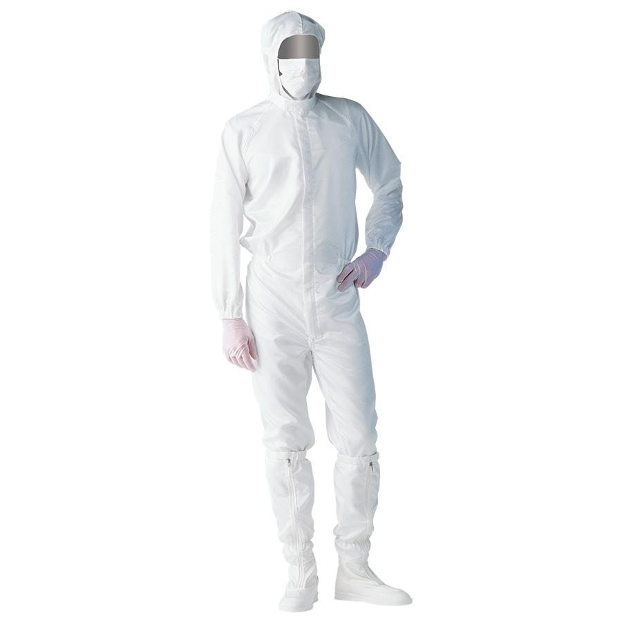 クリーンウェア 一般型クリーンスーツ S1060W ホワイト