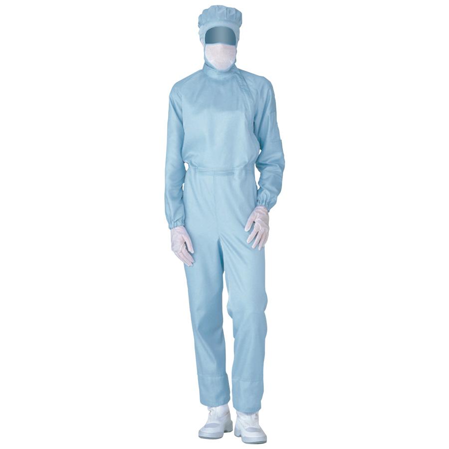 クリーンウェア 超静電クリーンスーツ C1011B ブルー
