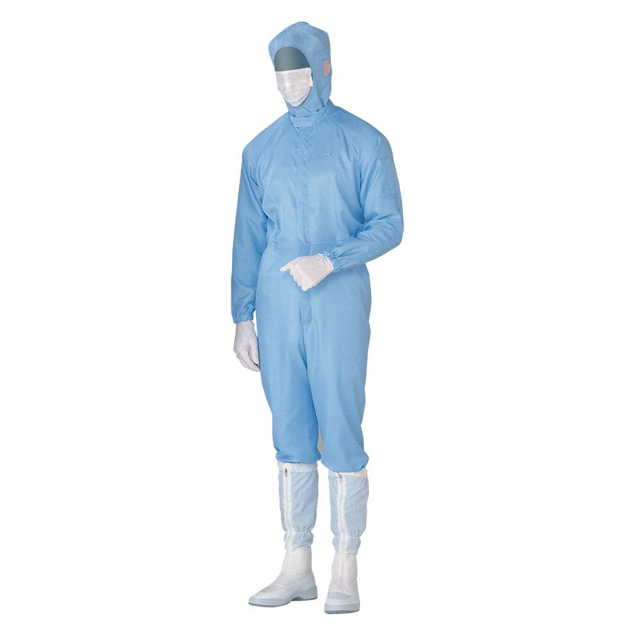 クリーンウェア 超静電クリーンスーツ C1515B ブルー